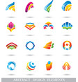 ABSTRACT COLORFUL DESIGN ELEMENTS or ICONS vector image vector image