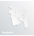 Abstract icon map of Bangladesh vector image vector image