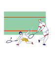 adult and child playing squash father and son vector image vector image