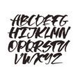 alphabet letters black handwritten font drawn vector image vector image