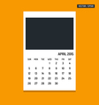 April 2015 calendar vector image