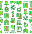 back to school seamless pattern with line icons vector image