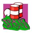 barrels of toxic waste vector image vector image