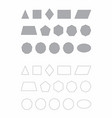 basic flat geometric shapes vector image