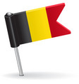 Belgian pin icon flag vector image vector image