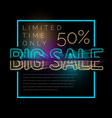 big sale retro poster original banner for vector image
