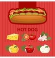Big tasty hot dog vector image vector image