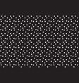 black white polka randomly dots seamless pattern vector image