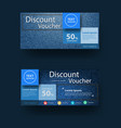 blue jeans texture background with discount vector image vector image