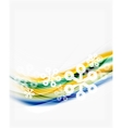 Blurred wave line with snowflakes Christmas vector image vector image