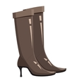 Brown high heel fashion boot icon cartoon style vector image vector image