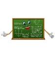 cartoon funny board with mathematics vector image