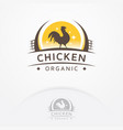 chicken organic logo vector image vector image
