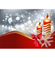 christmas burning candle vector image
