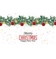 christmas decorative branches with ornaments vector image vector image