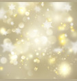 christmas glowing golden template eps 10 vector image vector image