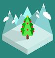 Christmas tree isometric vector image vector image