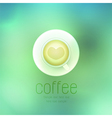 coffee cup against on abstract background vector image vector image