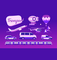 collection of urban transport vector image vector image