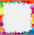 colorful frame with blobs isolated transparent vector image vector image