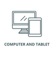 computer and tablet line icon computer vector image vector image