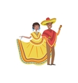 Couple In Mexican National Clothes vector image vector image