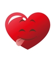 cute tongue out heart cartoon icon vector image vector image