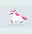 cute unicorn background baby fairy animal vector image