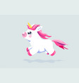 cute unicorn background bafairy animal vector image