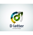 D letter concept logo template vector image vector image