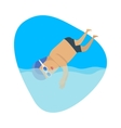 Diving Sport Template Summer Games vector image