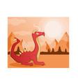 dragon culture mythology vector image