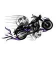 dramatic burning motorcycle engulfed in fierce vector image