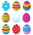 easter eggs collection 1 vector image
