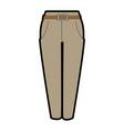 elegant pants for women vector image vector image