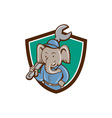 Elephant Mechanic Spanner Shoulder Crest Cartoon vector image vector image