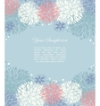 floral background and place for your text vector image vector image