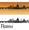 Florence skyline in orange vector image vector image