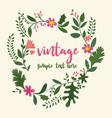 flower frame in vintage style vector image