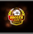 football soccer club logo design template vector image vector image