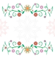 Frame of flowers ckech vector image