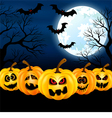 full moon on halloween vector image