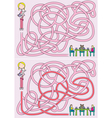 Girl maze vector | Price: 1 Credit (USD $1)