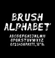 hand drawn brush strokes alphabet vector image