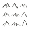 Hand drawn set of mountains vintage vector image