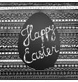 handwritten happy easter inscription on blackboard vector image vector image