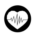 heartbeat icon design vector image