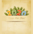 holiday christmas background with 2020 made in vector image