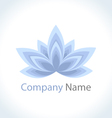 Icon logo flower beauty vector image