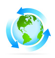 Icon Planet Earth with Arrow vector image vector image